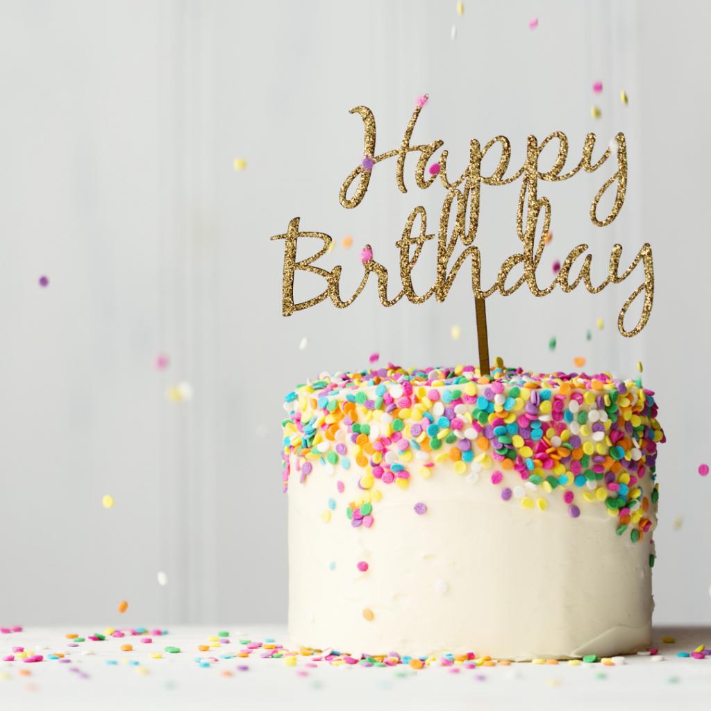 Purple Violet Business Support Birthday cake
